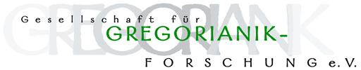 Logo for Gesellschaft für Gregorianik-Forschung e.V.